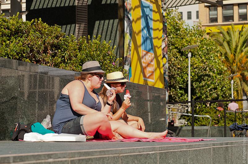 Туристы на площади Union Square