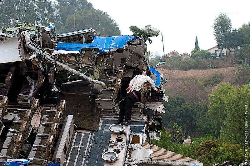 Сцена авиакатастрофы