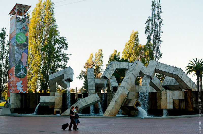 Vaillancourt Fountain - фонтан в центре Сан-Франциско