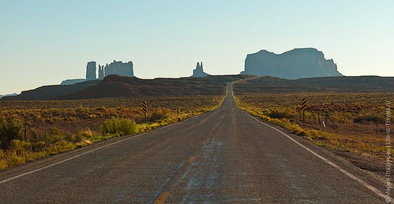 Дорога, ведущая к Долине Монументов