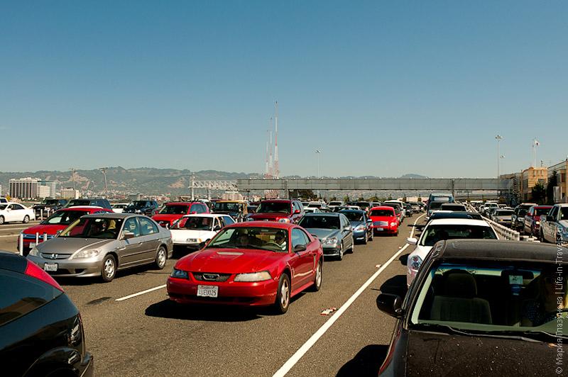 Пробка на въезде в Сан-Франциско
