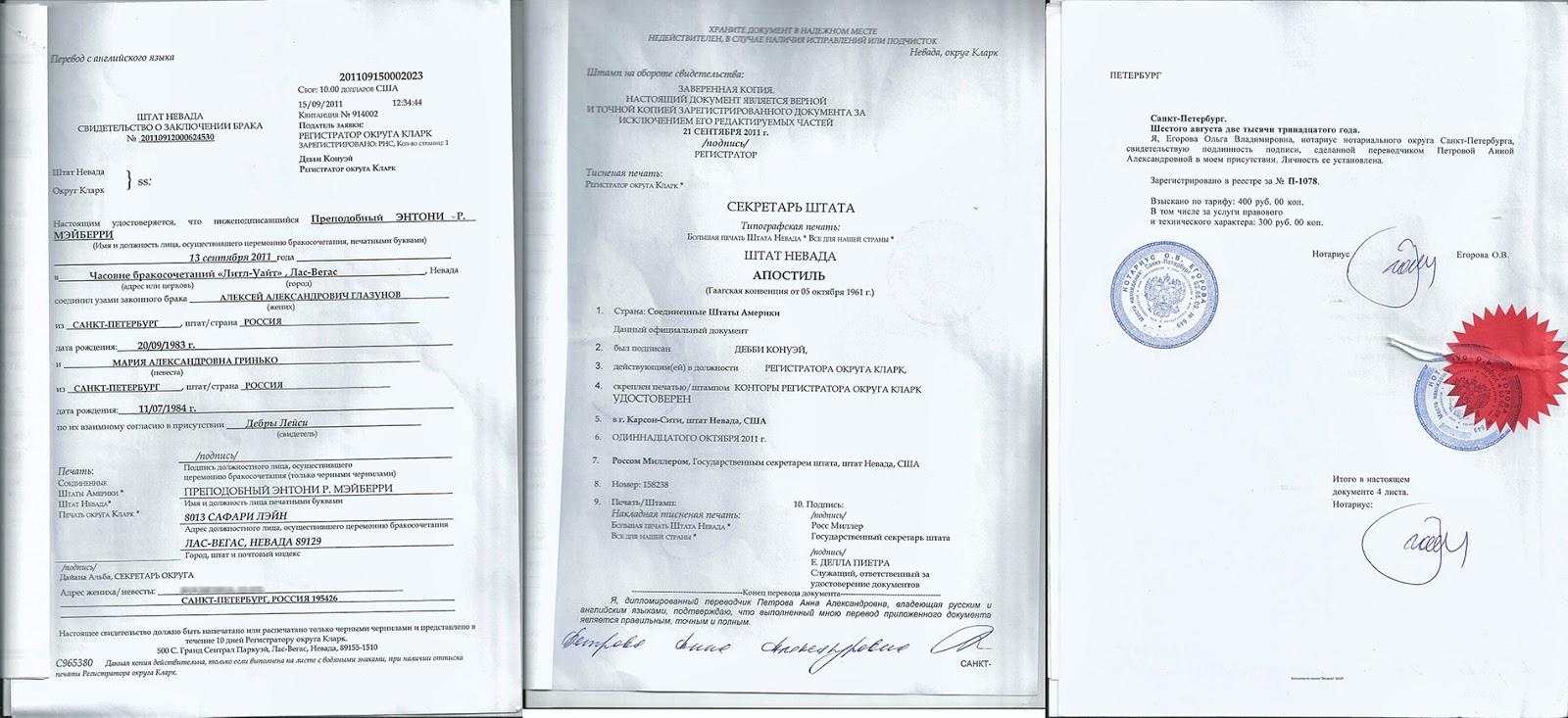 Заверенный перевод документов на русский язык