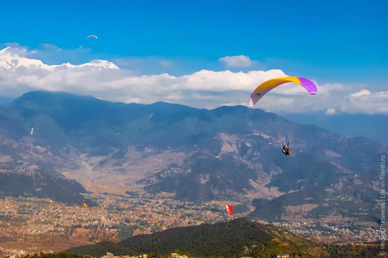 Полёт на параплане в Непале