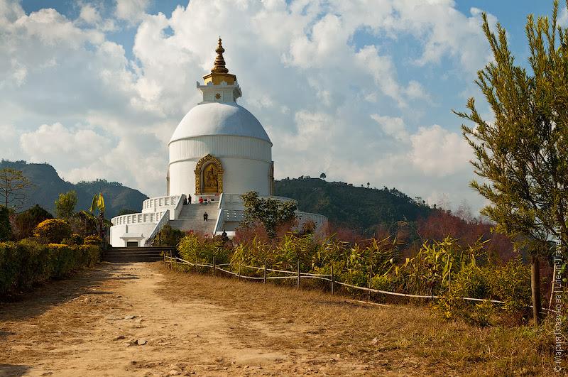 Ступа Шанти, Покхара