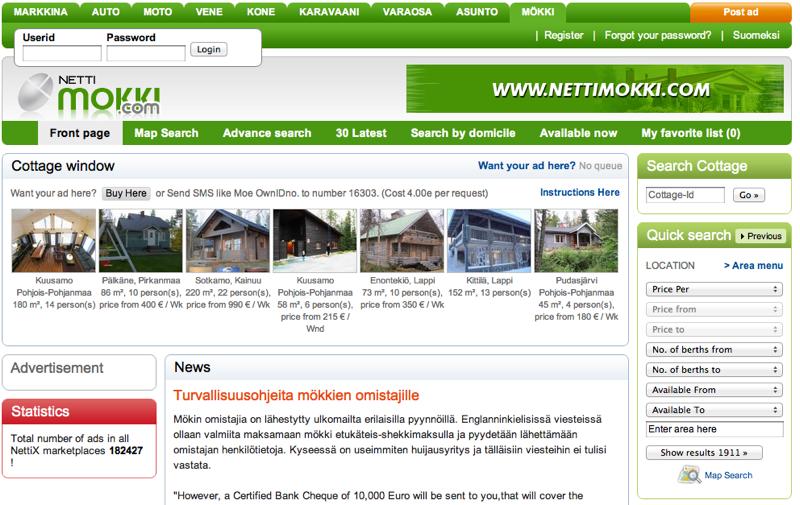 http://www.nettimokki.com