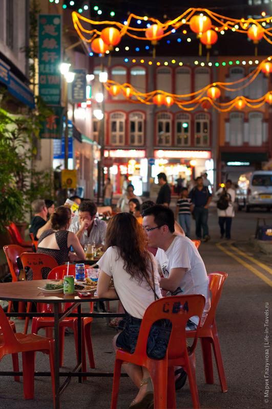 Уличный ресторан в Китайском квартале