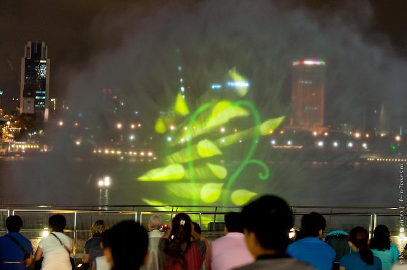 Лазерное шоу на Марина Бэй в Сингапуре