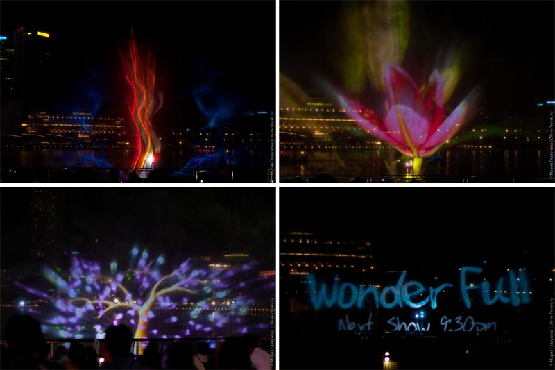 Лазерное шоу на Марина Бэй в Сингапуре, расписание