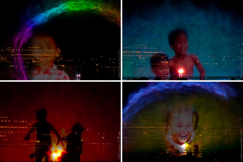 Лазерное шоу на Marina Bay Singapore