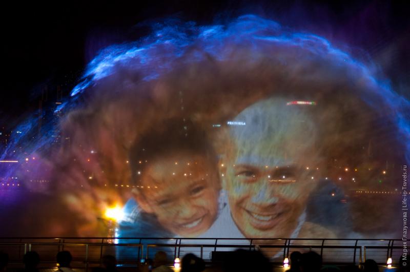Лазерное шоу Wonder Full в Сингапуре
