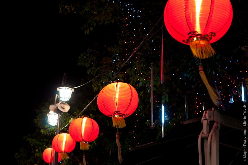 Китайские фонарики в Чвйнатаун