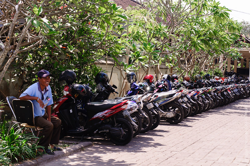 Парковка на Бали