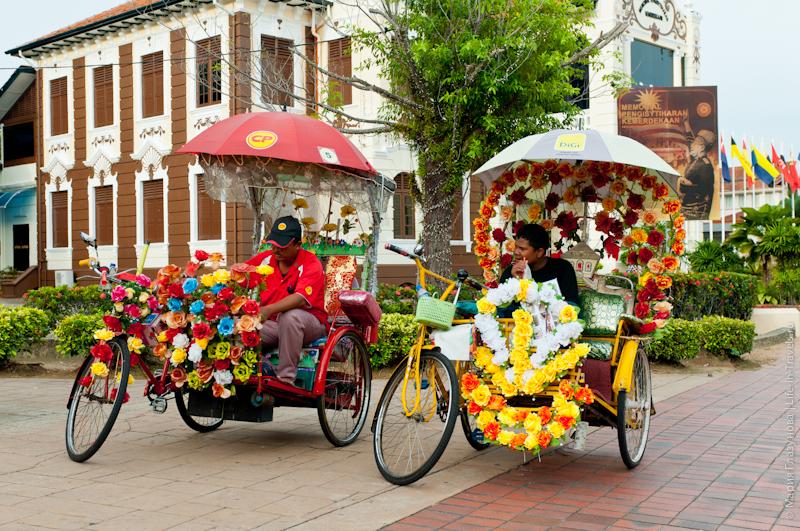 Малайзийские вело-рикши