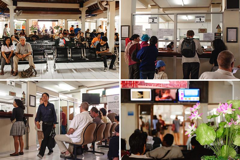 Подача документов на продление визы в Денпасаре, Бали