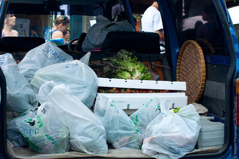 Фургон с органическими продуктами