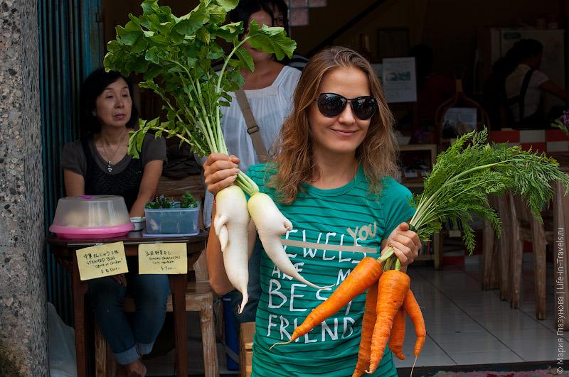 Морковка с грядки
