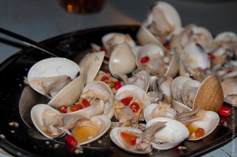 Морепродукты на Борнео