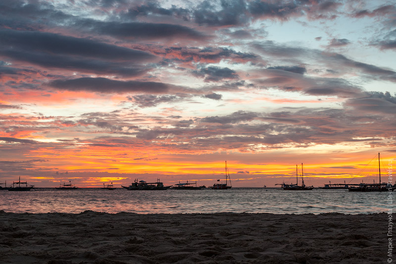 Закат на Белом пляже