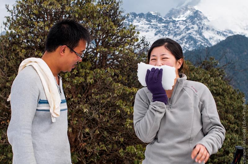 Снег в Гималаях