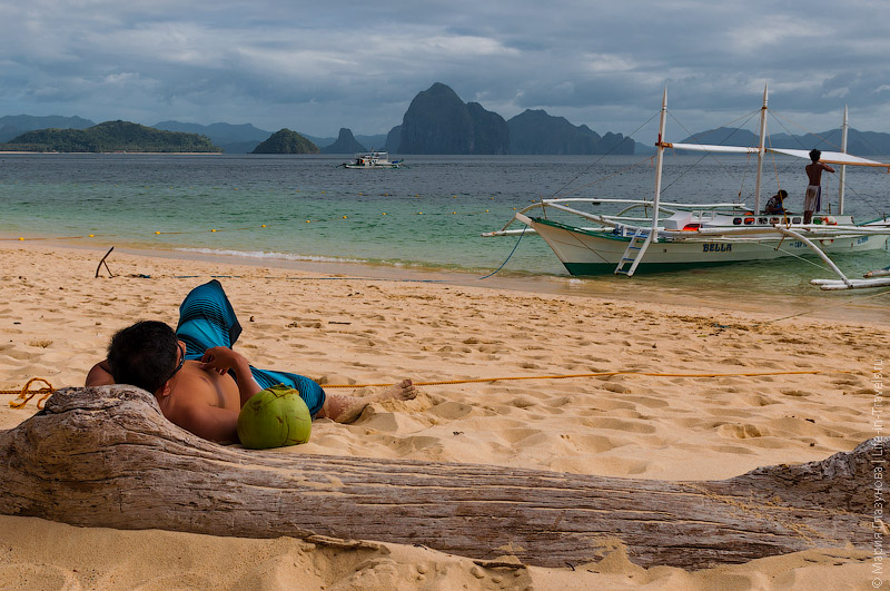 Пляж Seven commando на острове Palawan