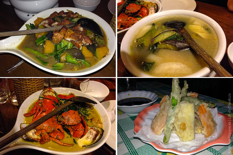 Филиппинская кухня в Пуэрто Принцессе