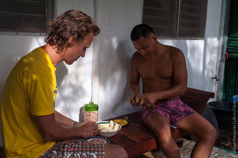 Банановые бутерброды на завтрак