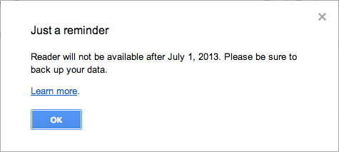 Закрытие Google Reader