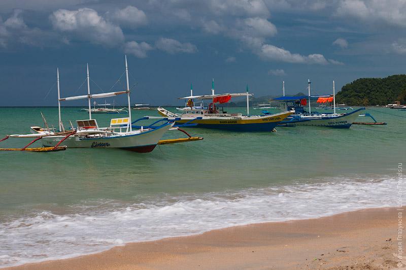 Лодки в Эль Нидо