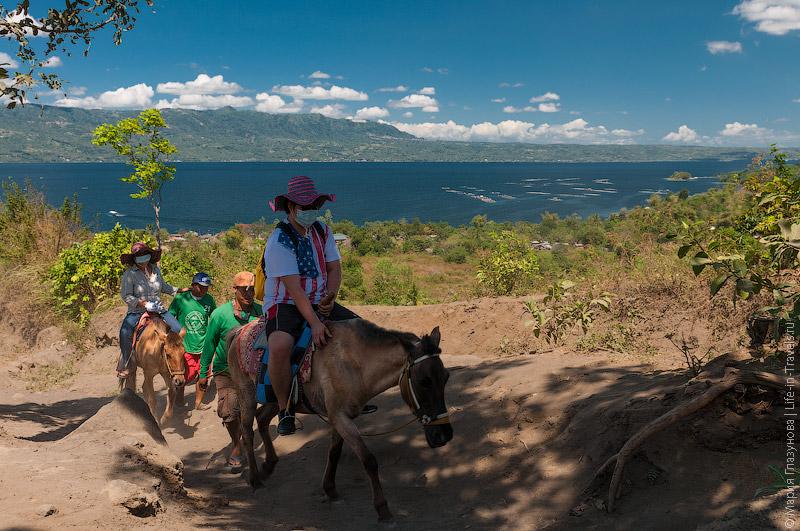 Туристы на лошадях