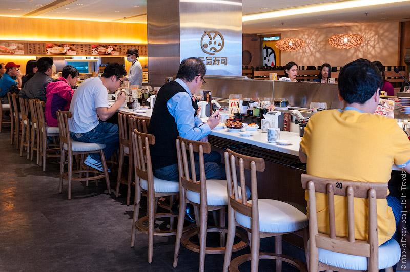 Ресторан суши в Гонконге