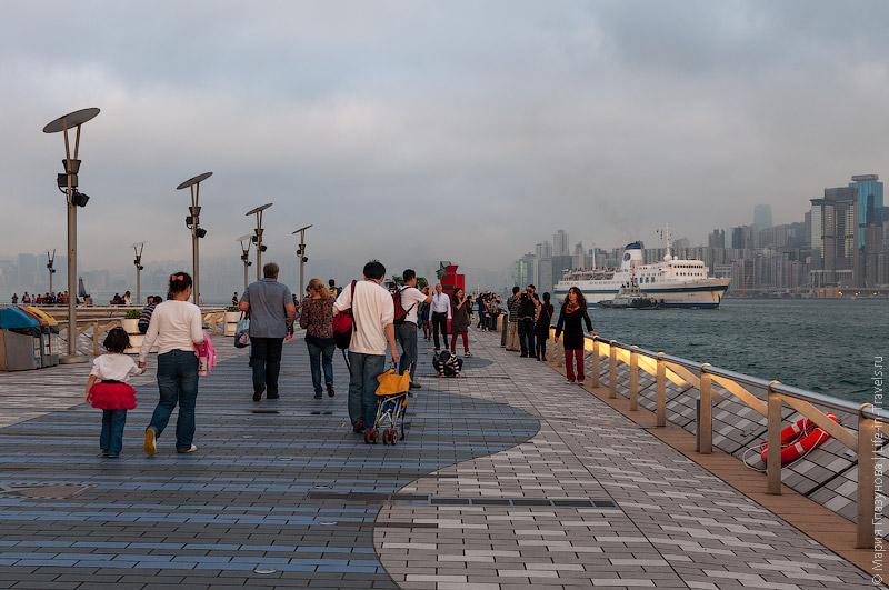 Набережная в Гонконге