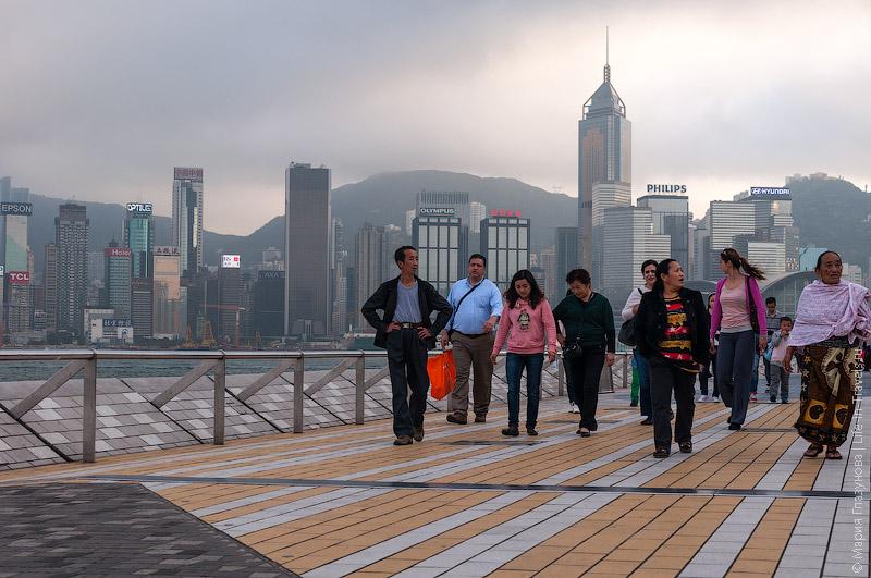 Туристы в Гонконге