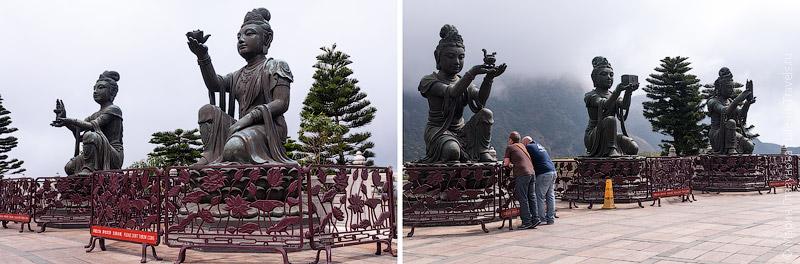Статуи Бодхисатв