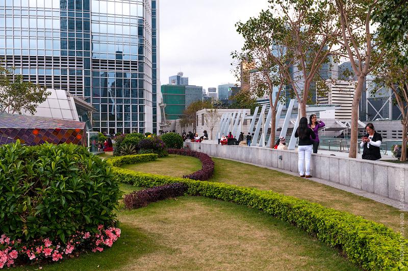 Парк на крыше торгового центра IFC