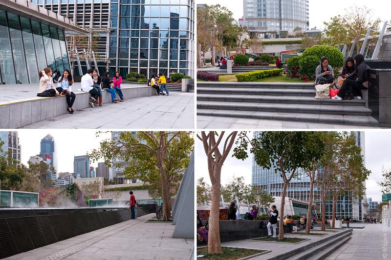 Парк на крыше торгового комплекса Гонконг