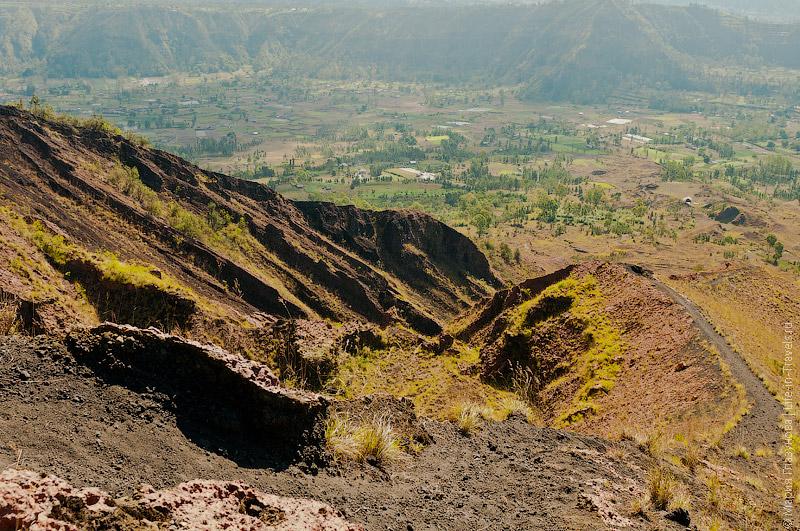 Каменная лава – вид на наш путь сверху