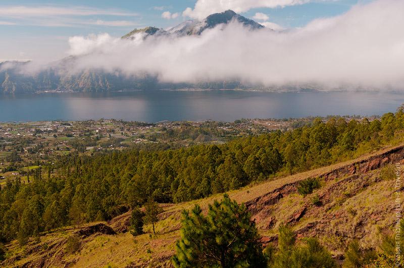 Озеро Батур и вулкан Абанг