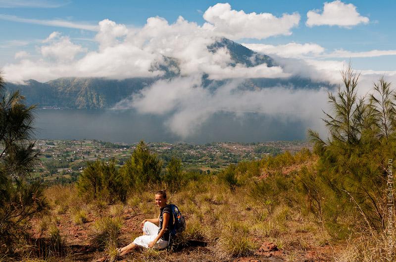 Вид с вулкана Батур