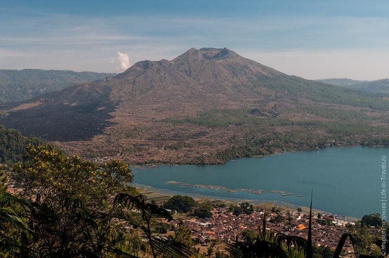 Вулкан Батур и озеро Батур