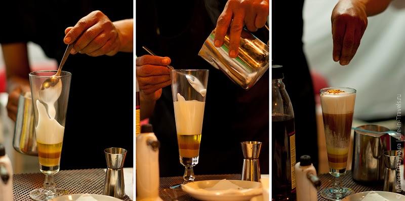 Приготовление миндально шоколадного коктейля