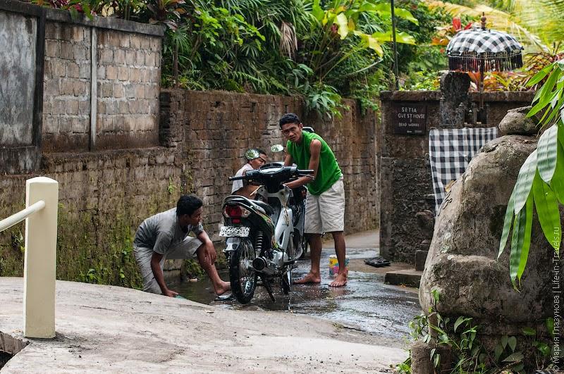 Помывка скутеров