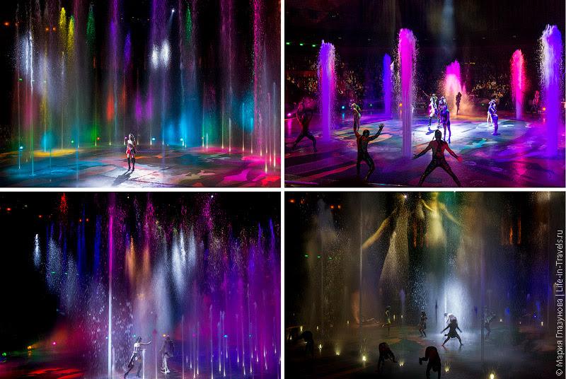 Поющие разноцветные фонтаны