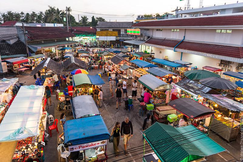 Ночной рынок на Пангане