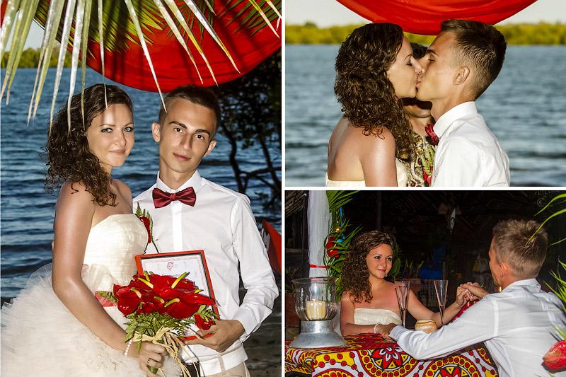 Романтический ужин на берегу Индийского океана