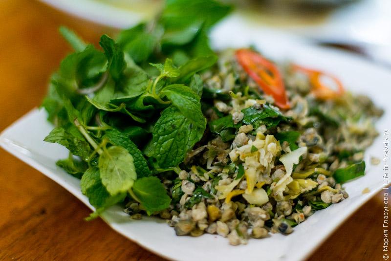 Вьетнамская кухня: Мидии на грилле с мятой