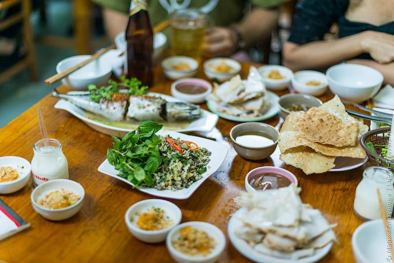 Вьетнамская кухня: Стол перед ужином
