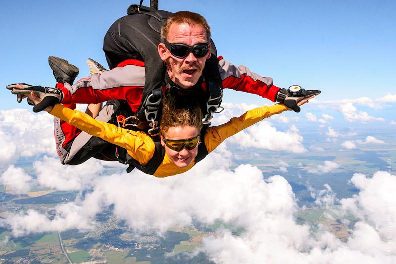 Прыжок с парашютом в тандеме с инструктором, 4000 м