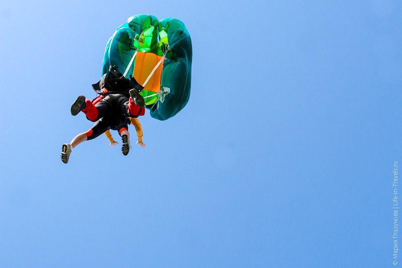 Прыжок с парашютом в тандеме с 4000 метров