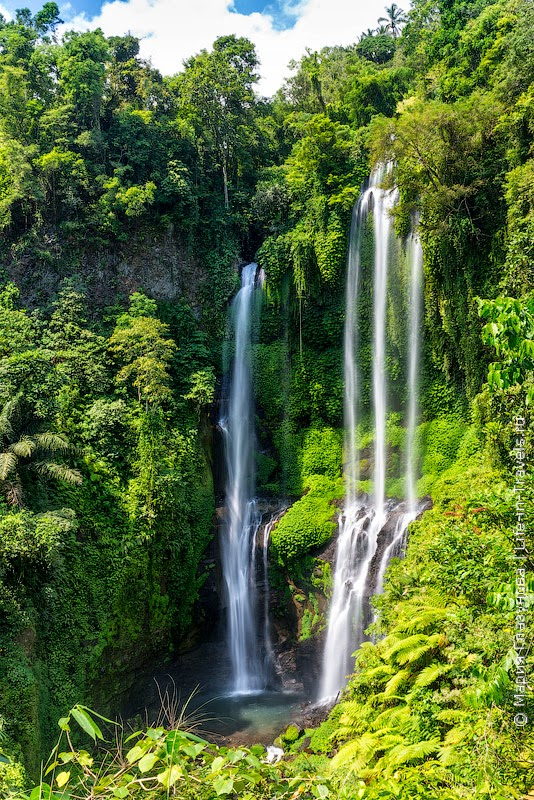 Водопады Бали – отметки на карте и наши впечатления