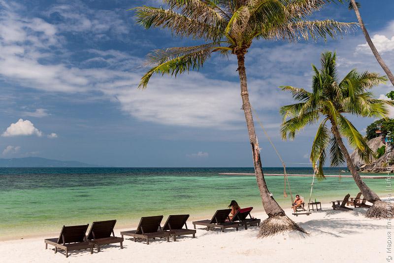 Пляж Лила у отеля Cocohut Beach Resort на Хаад Рине